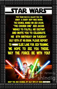 star wars birthday invitation fb