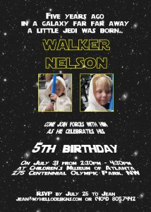 star wars birthday invitation il fullxfull