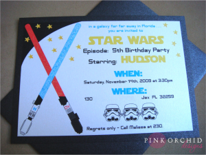 star wars birthday invite template starwars