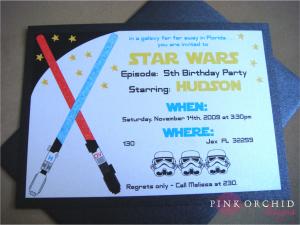 Star Wars Birthday Invite Template Starwars