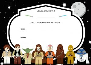 star wars birthday invite template um doce dia festa lego star wars convite