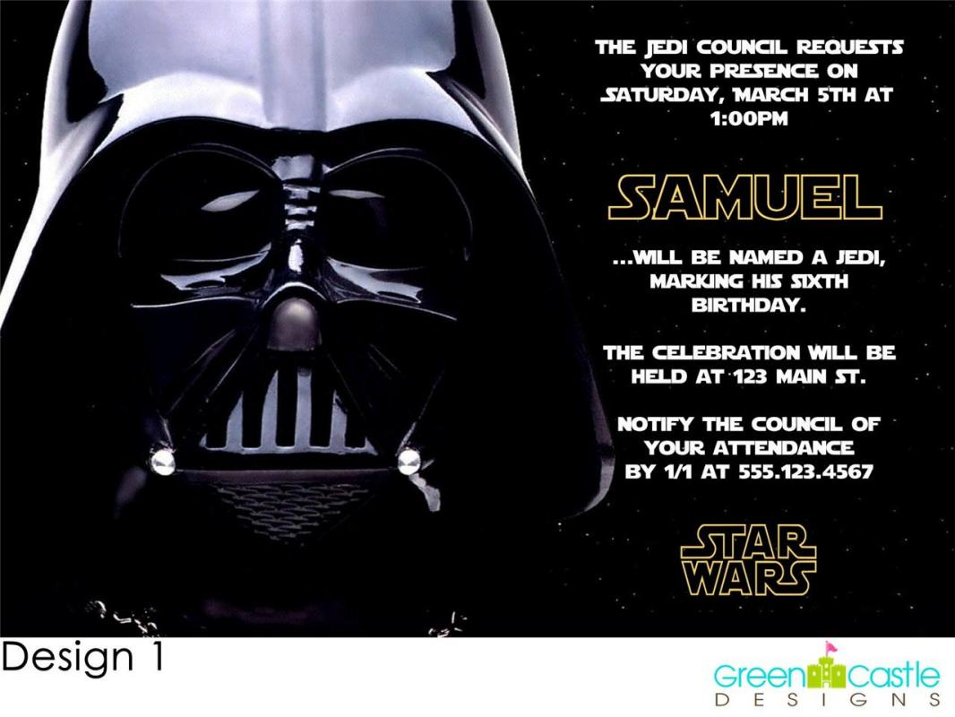 Star Wars Invitations Template Business