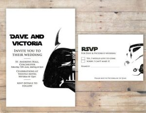 star wars invitations template invitacion de boda starwars