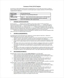 statement of work example it statement of work template