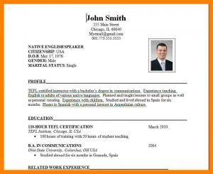 statement of work sample international cv format