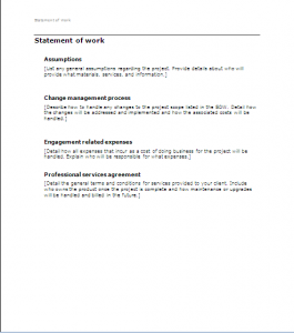 statement of work sow3