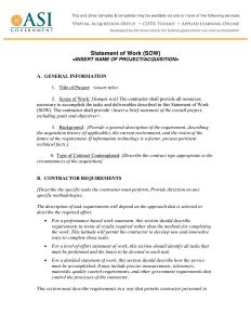 statement of work statement of work 6 1