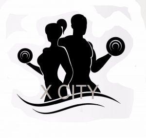 stencil font free wall decal sport font b fitness b font bodybuilding font b silhouette b font dumbell barbell