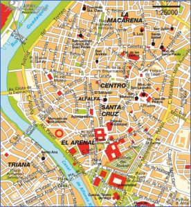 story maps printable seville map