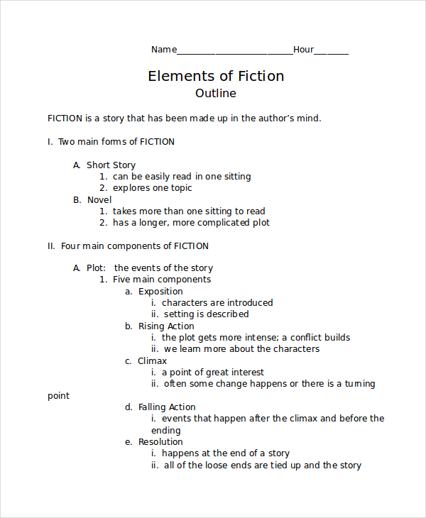 plot and character outlines essay 1 outline structure for literary analysis essay i catchy title ii paragraph 1: introduction (use hatmat) a hook b author c title d main characters e a short summary.