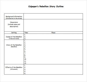 story outline template rebellion story outline template