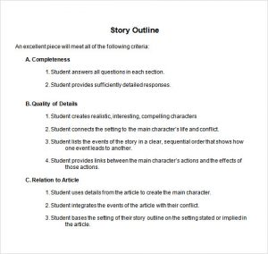 story outline template story outline template word