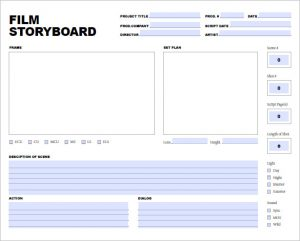 storyboard template powerpoint download free storyboard template for film and video project