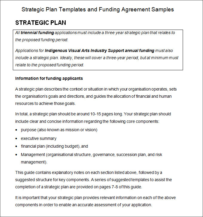 strategic plan example