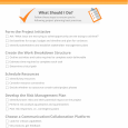 strategic plan outlines project planning checklist