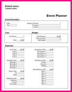 student budget worksheet event planning worksheet template event planner