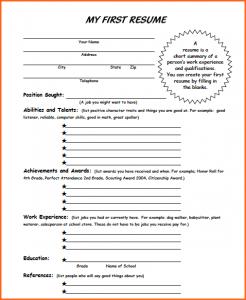 student budget worksheet resume samples for first job screenshot at am