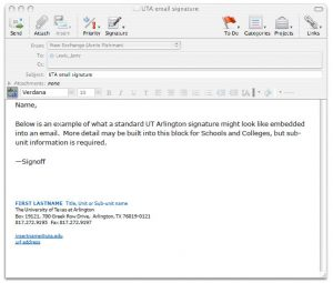 student email signature e mail