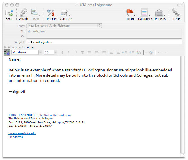 Student Email Signature  Template Business