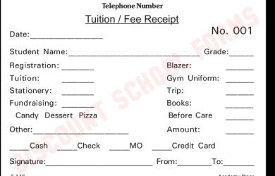 student progress report template tuition fee receipt e