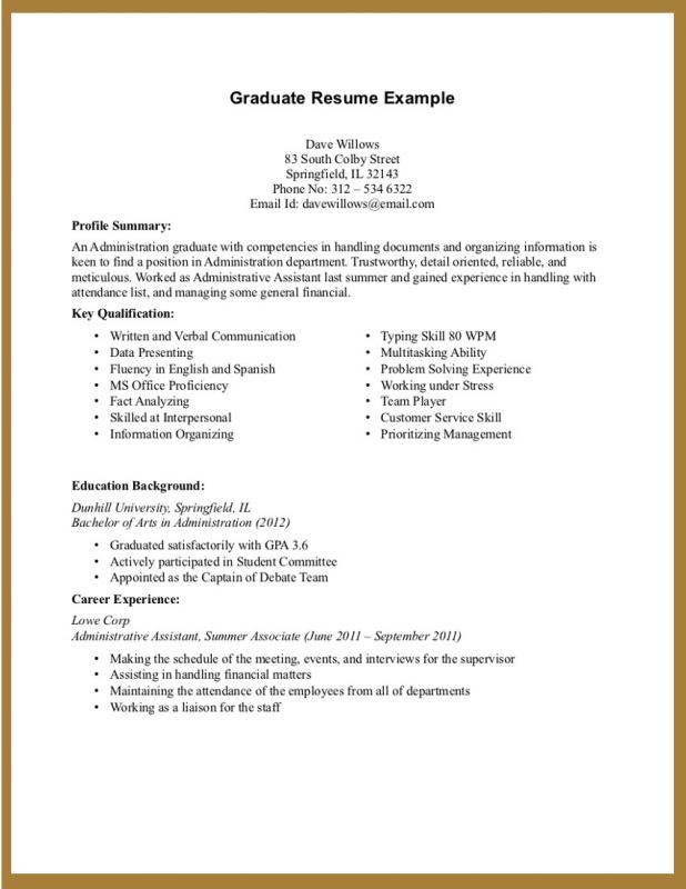 student resume format