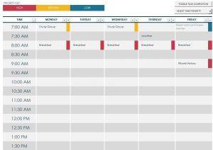 college weekly schedule maker