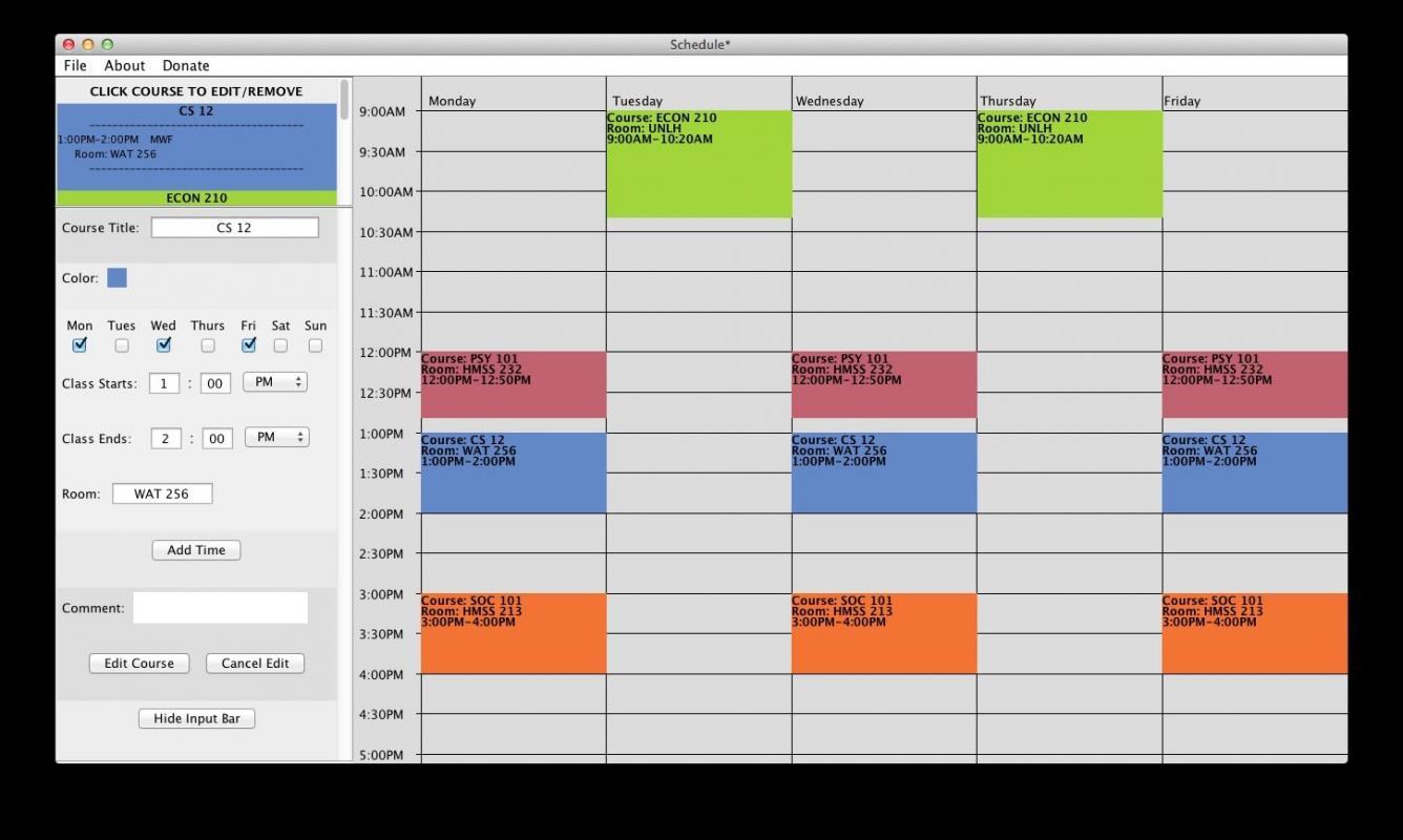 study schedule maker