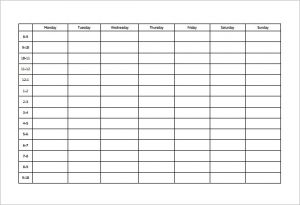 study schedule template weekly study schedule template pdf format download