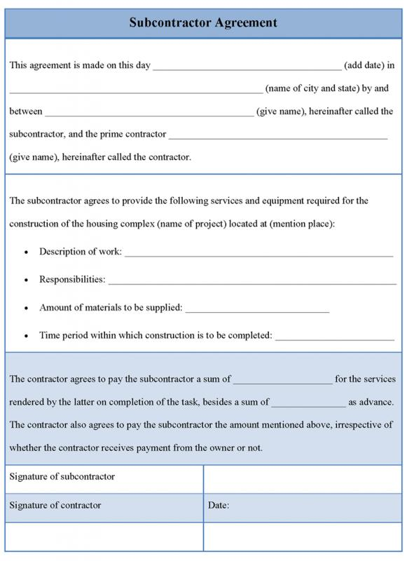 Subcontractor Contract Template | Template Business
