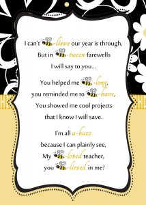 substitute teaching business cards bee teacher letter by reneessoirees