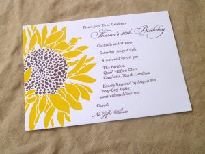 sunflower wedding invitations sunflower x invitation