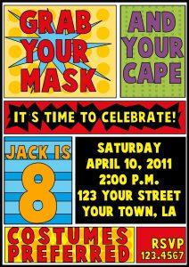 superhero birthday invitations il fullxfull