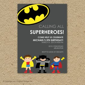 superhero birthday invitations il fullxfull