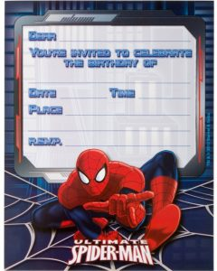 superhero invitation template ultimate spiderman birthday invitations empty template