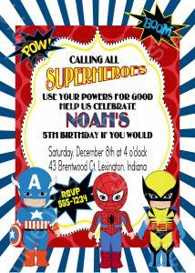 superhero invite template il fullxfull kcc