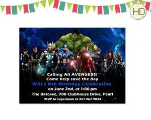 superhero invite template il fullxfull ryc