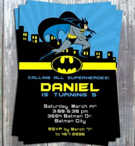 superhero invite template superhero batman birthday theme party invitation card printable diy dbdf