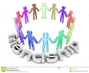 support letter for a friend multiethnic friendship group icon people standing circle d rendered illustration