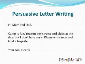 support letter for a friend persuasive texts the language of persuasion by jeni mawter