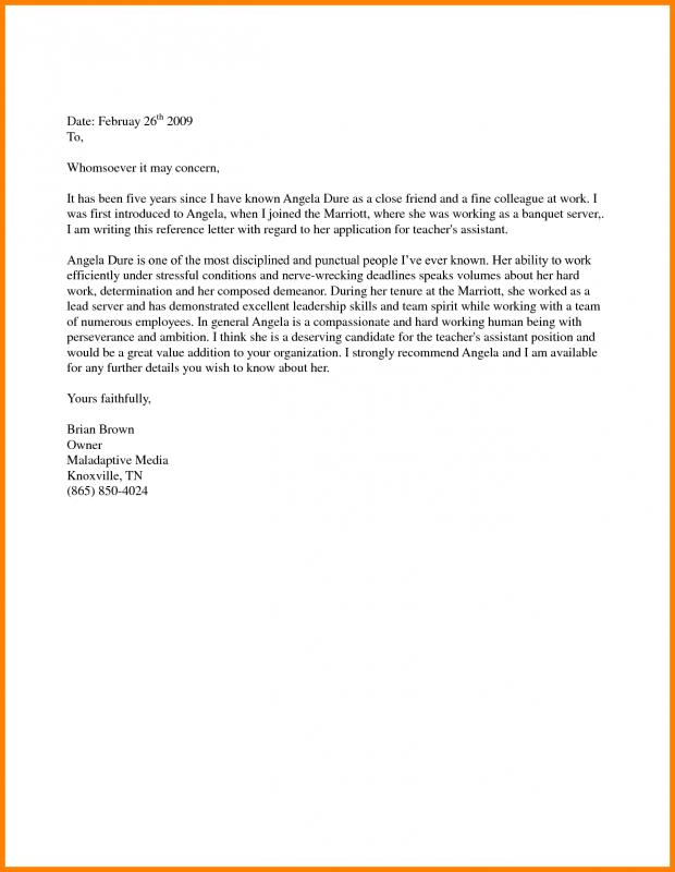 Support Letter Sample For Immigration  Letter Of Recommendation For Immigration Purposes Samples