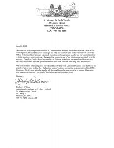 support letter sample for immigration st vincent de paul church testimonial letter