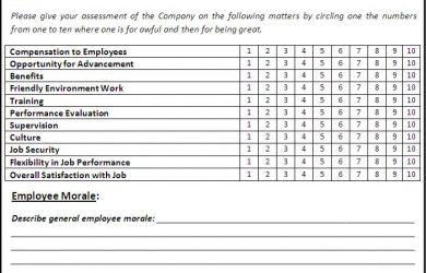 survey template word satisfaction survey template