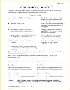 sworn statement template sworn statement template