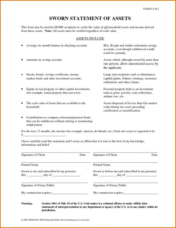 Sworn Statement Template | Template Business