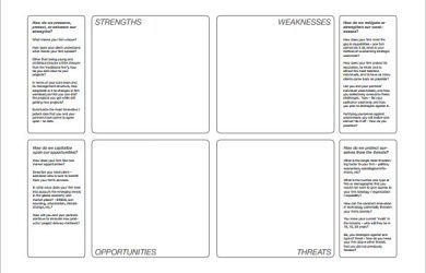 swot analysis template excel company swot analysis template pdf format download