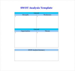 swot analysis template word swot analysis template word