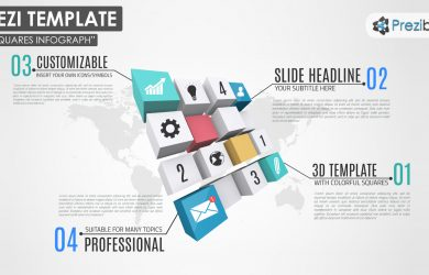 swot analysis templates d squares rectangles creative world map business infographic diagram prezi templates
