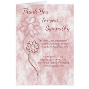 sympathy thank you notes to coworkers thank you for your sympathy pink sketched flowers card reccdcfeadfce xvuat byvr