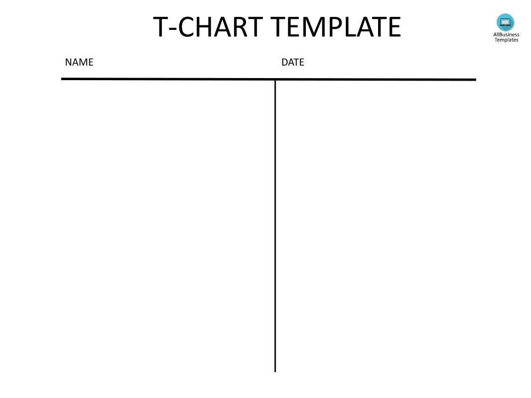 t chart template