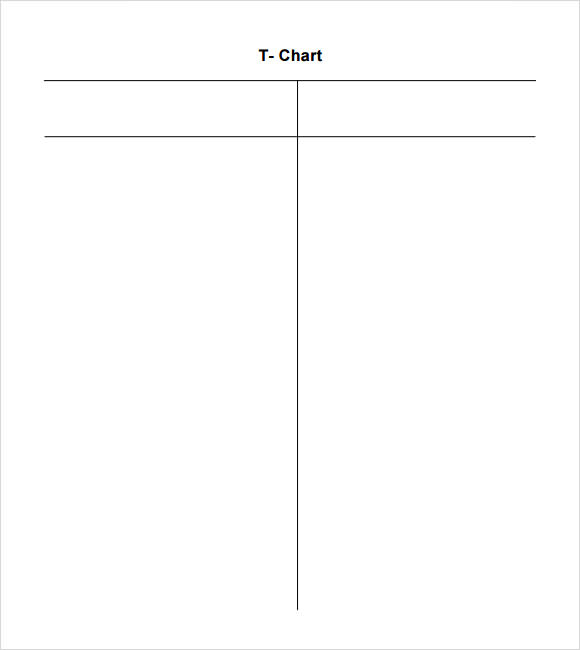 image about T Chart Printable named T Chart Template Template Small business